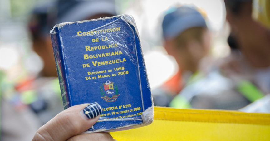HEAVY DEMONSTRATIONS IN VENEZUELA DUE TO POLITICAL CRISIS
