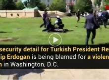 Beastly Attack during visit of Turkish President to the United States