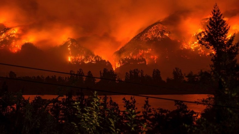 Several Wildfires in Western States of the U.S Forced Thousands Evacuation