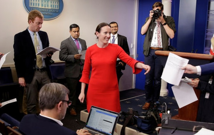 White House deputy press secretary Lindsay Walters